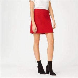 NWT Club Monaco Red Wool Mini Skirt 00